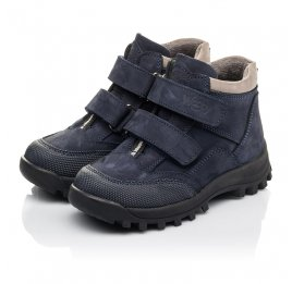 Детские демисезонные ботинки Woopy Fashion синий для мальчиков натуральная замша и искуственный материал размер 21-24 (4446) Фото 3