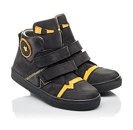 Детские демісезонні черевики Woopy Fashion черные для мальчиков натуральный нубук размер 22-38 (4447) Фото 1