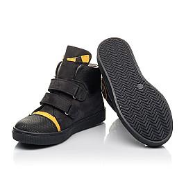 Детские демисезонные ботинки Woopy Fashion черные для мальчиков натуральный нубук размер 22-38 (4447) Фото 2