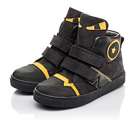 Детские демісезонні черевики Woopy Fashion черные для мальчиков натуральный нубук размер 22-38 (4447) Фото 3