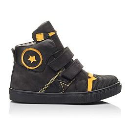 Детские демісезонні черевики Woopy Fashion черные для мальчиков натуральный нубук размер 22-38 (4447) Фото 4