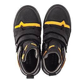 Детские демисезонные ботинки Woopy Fashion черные для мальчиков натуральный нубук размер 22-38 (4447) Фото 5
