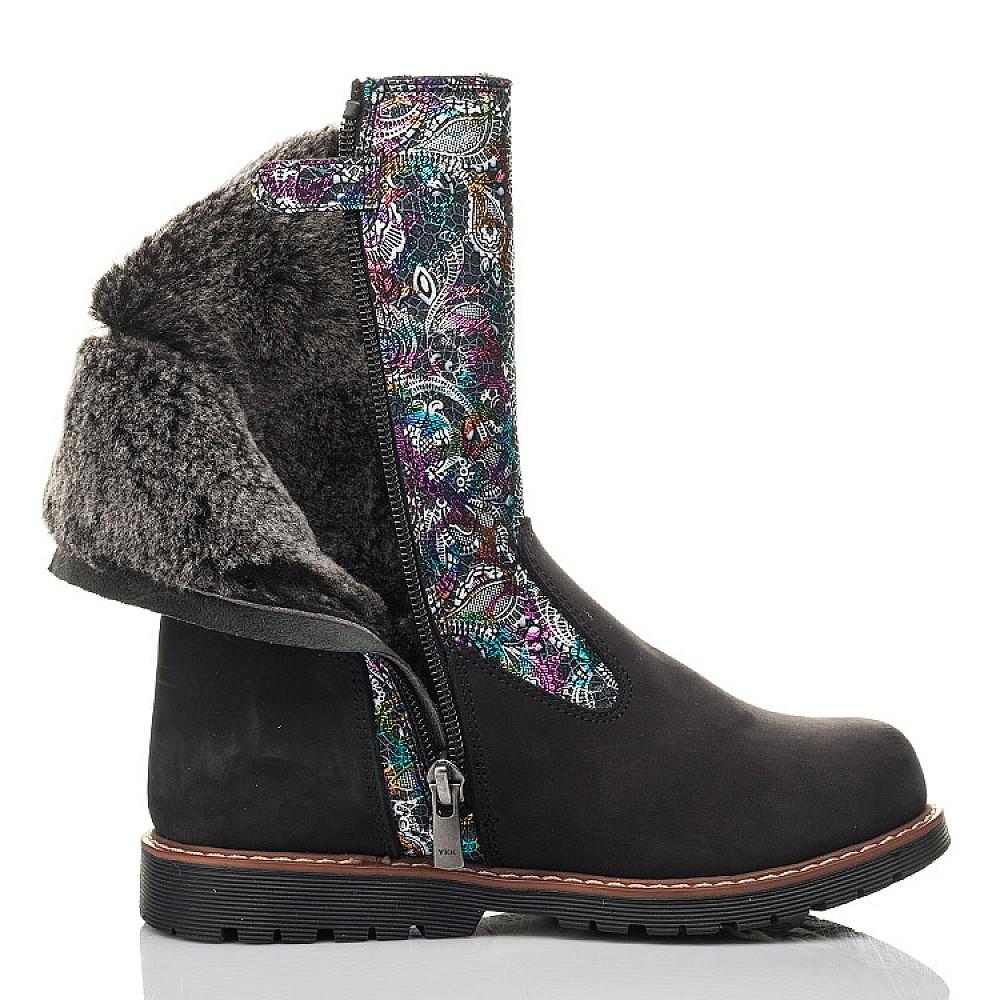 Детские зимние сапоги на меху Woopy Fashion черные для девочек натуральный нубук размер 32-38 (4448) Фото 5