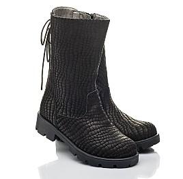 Детские зимние сапоги на меху Woopy Fashion черные для девочек натуральный нубук размер 32-39 (4451) Фото 1