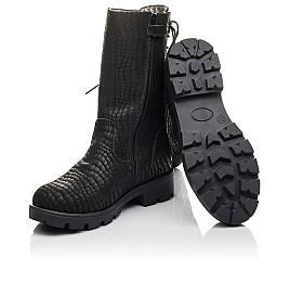 Детские зимние сапоги на меху Woopy Fashion черные для девочек натуральный нубук размер 32-39 (4451) Фото 2