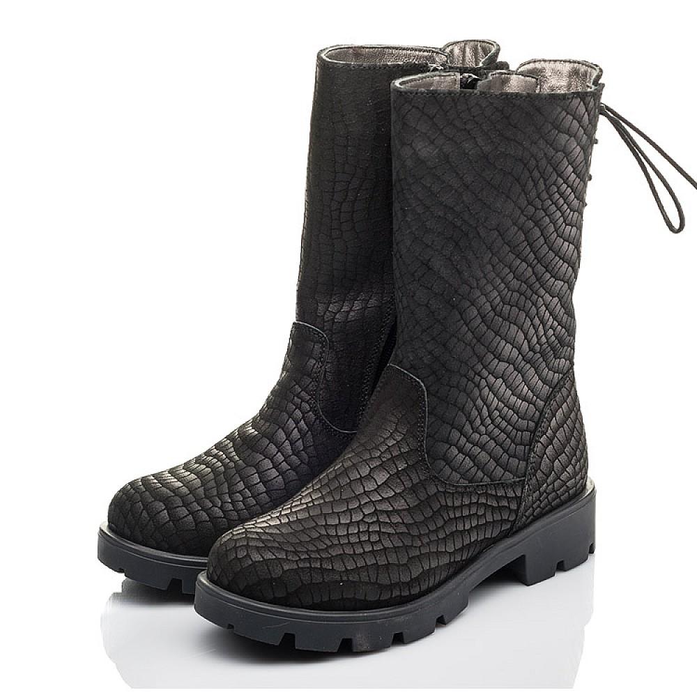 Детские зимние сапоги на меху Woopy Fashion черные для девочек натуральный нубук размер 32-39 (4451) Фото 3