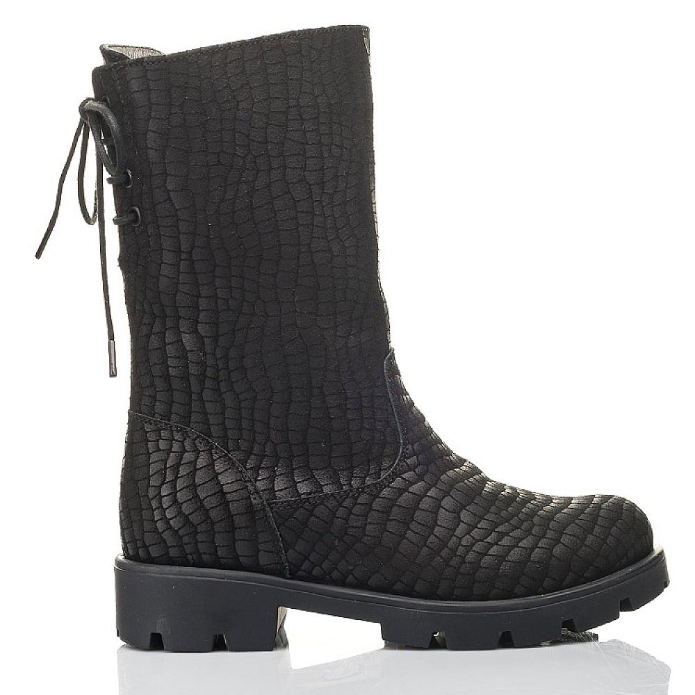Детские зимние сапоги на меху Woopy Fashion черные для девочек натуральный нубук размер 32-39 (4451) Фото 4
