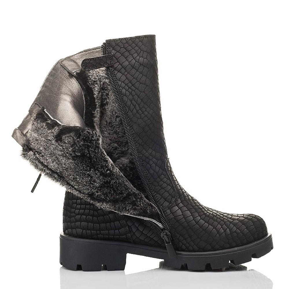 Детские зимние сапоги на меху Woopy Fashion черные для девочек натуральный нубук размер 32-39 (4451) Фото 5
