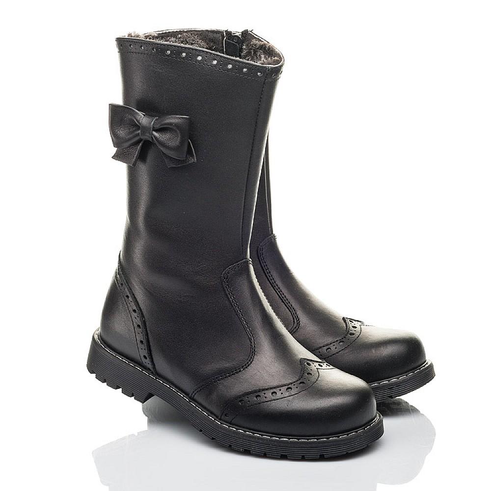 Детские зимние сапоги на меху Woopy Fashion черные для девочек натуральная кожа размер 32-38 (4452) Фото 1