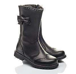 Детские зимние сапоги на меху Woopy Fashion черные для девочек натуральная кожа размер 33-37 (4452) Фото 1