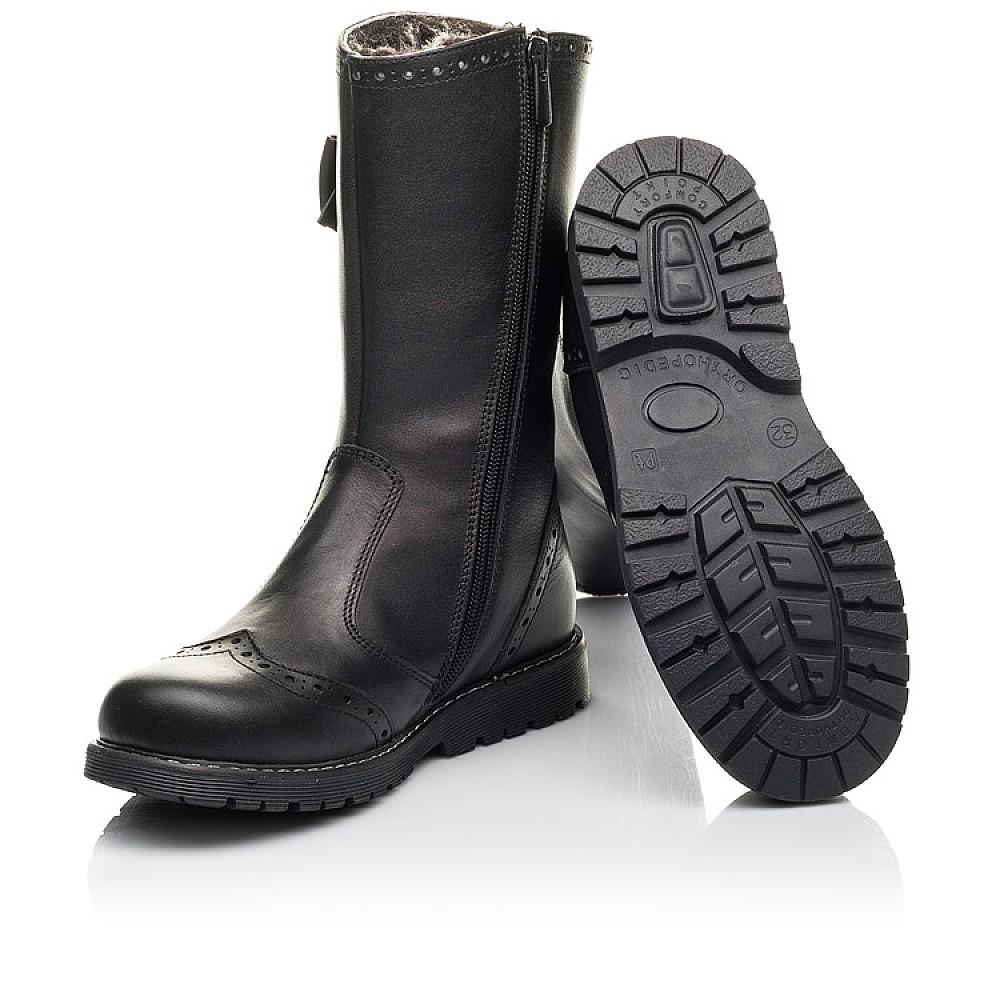 Детские зимние сапоги на меху Woopy Fashion черные для девочек натуральная кожа размер 32-38 (4452) Фото 2