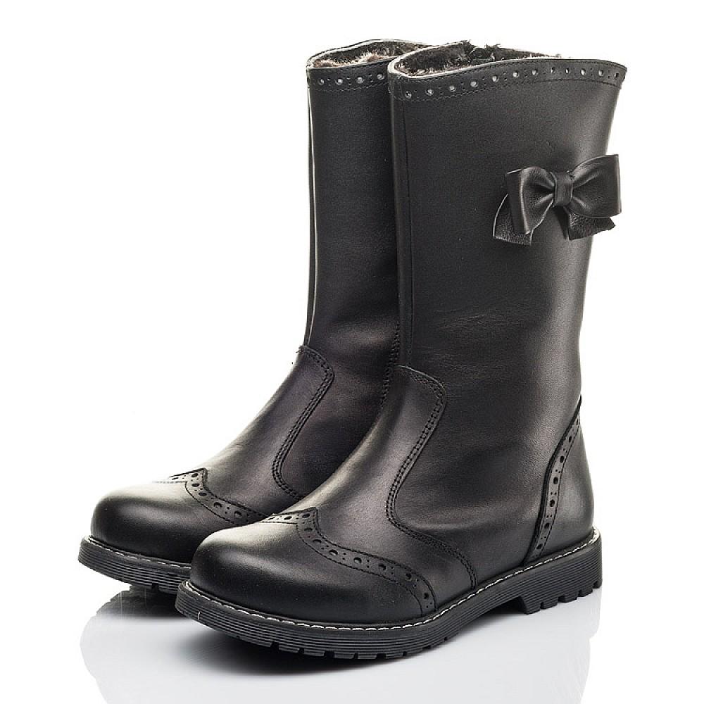 Детские зимние сапоги на меху Woopy Fashion черные для девочек натуральная кожа размер 32-38 (4452) Фото 3