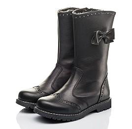 Детские зимние сапоги на меху Woopy Fashion черные для девочек натуральная кожа размер 33-37 (4452) Фото 3