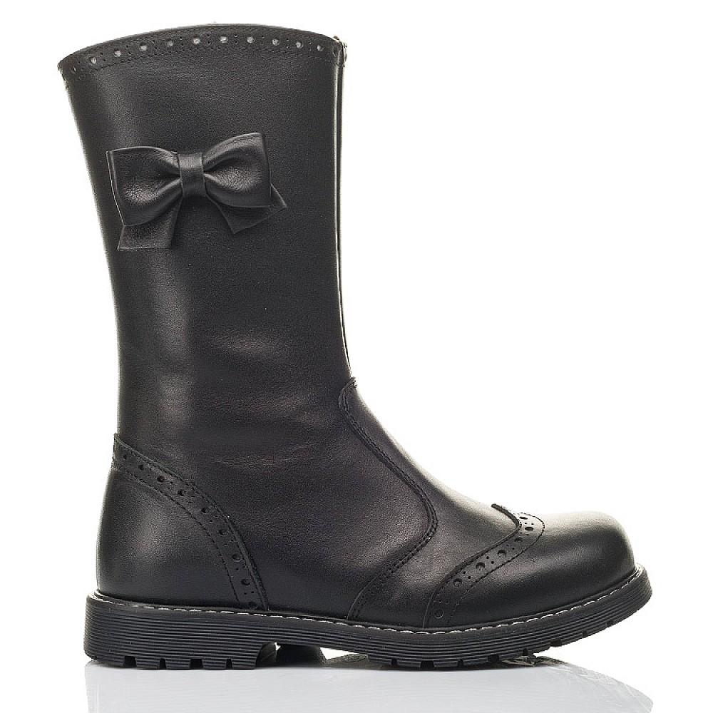Детские зимние сапоги на меху Woopy Fashion черные для девочек натуральная кожа размер 32-38 (4452) Фото 4