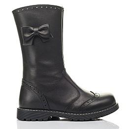 Детские зимние сапоги на меху Woopy Fashion черные для девочек натуральная кожа размер 33-37 (4452) Фото 4