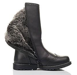 Детские зимние сапоги на меху Woopy Fashion черные для девочек натуральная кожа размер 33-37 (4452) Фото 5