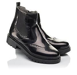 Детские демісезонні черевики Woopy Fashion черные для девочек натуральная лаковая кожа размер 36-39 (4453) Фото 1