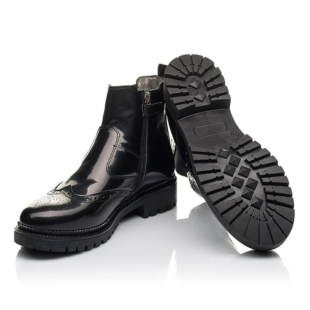 Детские демисезонные ботинки Woopy Fashion черные для девочек натуральная лаковая кожа размер 36-39 (4453) Фото 2