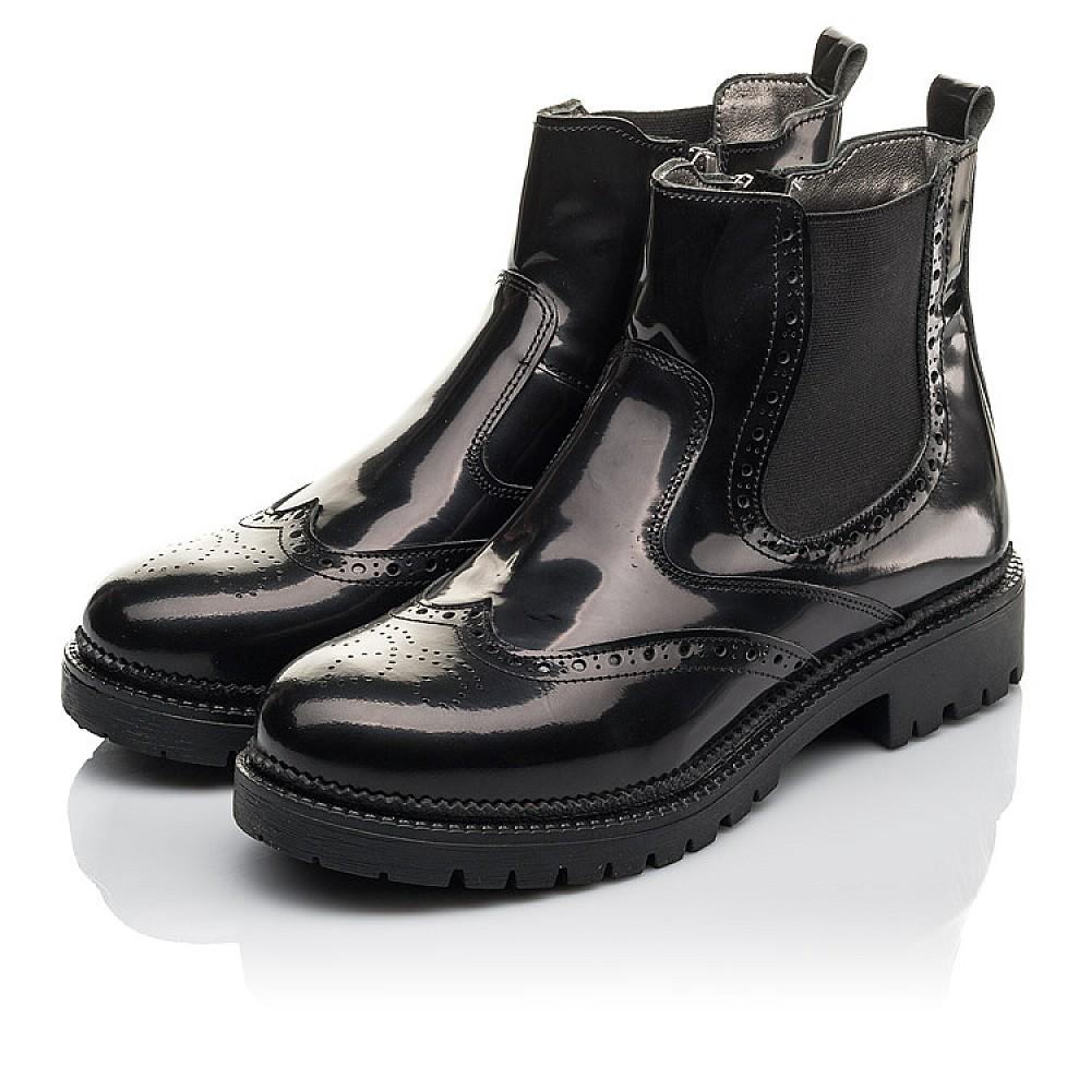 Детские демисезонные ботинки Woopy Fashion черные для девочек натуральная лаковая кожа размер 36-39 (4453) Фото 3