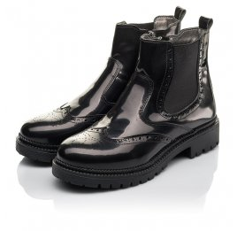 Детские демісезонні черевики Woopy Fashion черные для девочек натуральная лаковая кожа размер 36-39 (4453) Фото 3