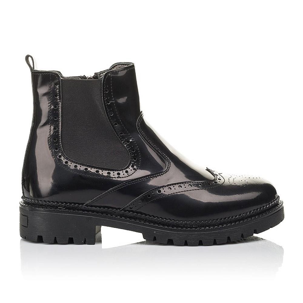 Детские демисезонные ботинки Woopy Fashion черные для девочек натуральная лаковая кожа размер 36-39 (4453) Фото 4