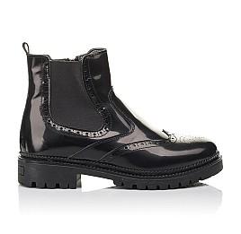 Детские демісезонні черевики Woopy Fashion черные для девочек натуральная лаковая кожа размер 36-39 (4453) Фото 4