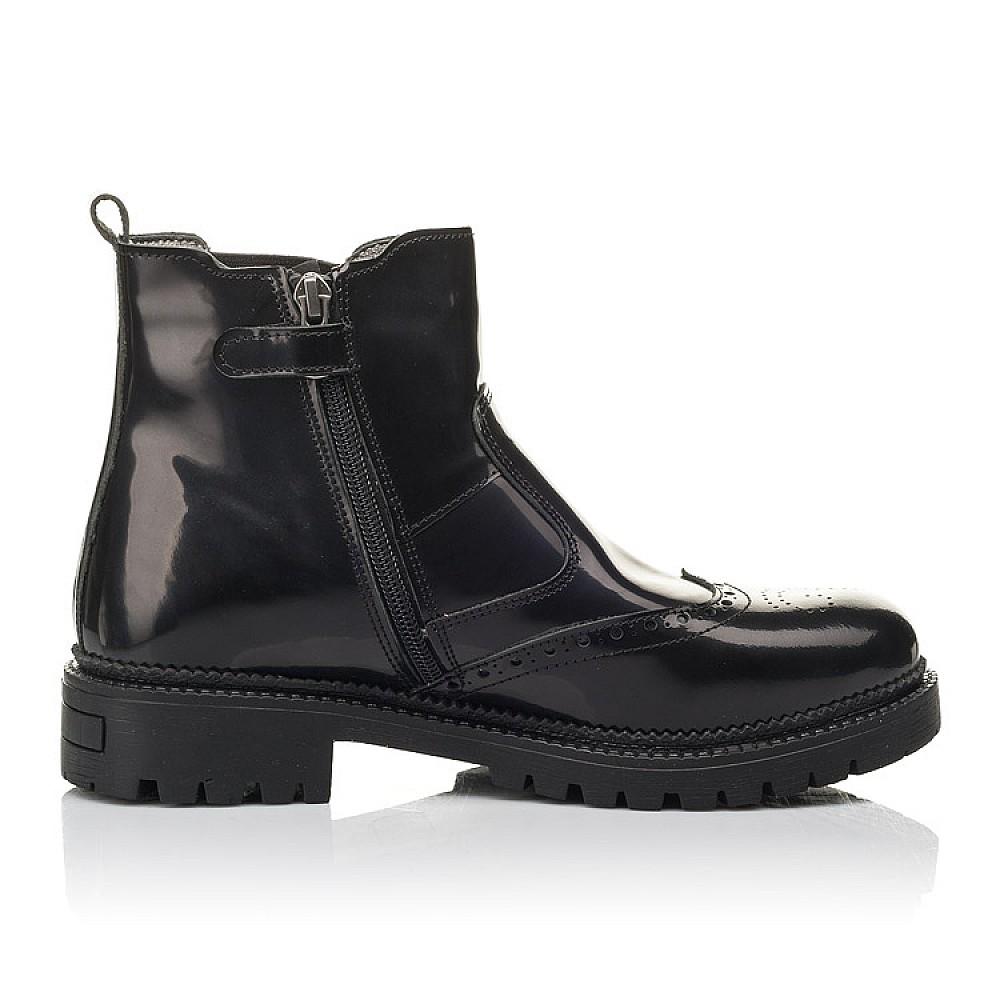 Детские демисезонные ботинки Woopy Fashion черные для девочек натуральная лаковая кожа размер 36-39 (4453) Фото 5