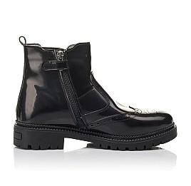 Детские демісезонні черевики Woopy Fashion черные для девочек натуральная лаковая кожа размер 36-39 (4453) Фото 5