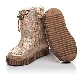 Детские зимние сапоги на меху Woopy Fashion золотые для девочек натуральная кожа размер 23-25 (4455) Фото 2
