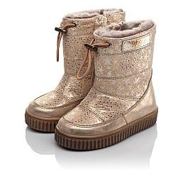 Детские зимние сапоги на меху Woopy Fashion золотые для девочек натуральная кожа размер 23-25 (4455) Фото 3