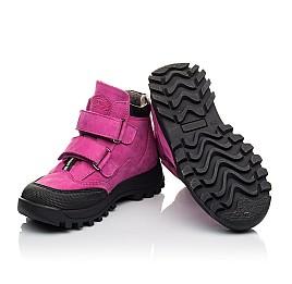 Детские демісезонні черевики Woopy Fashion малиновые для девочек натуральный нубук размер 21-33 (4456) Фото 2