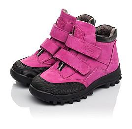 Детские демісезонні черевики Woopy Fashion малиновые для девочек натуральный нубук размер 21-33 (4456) Фото 3