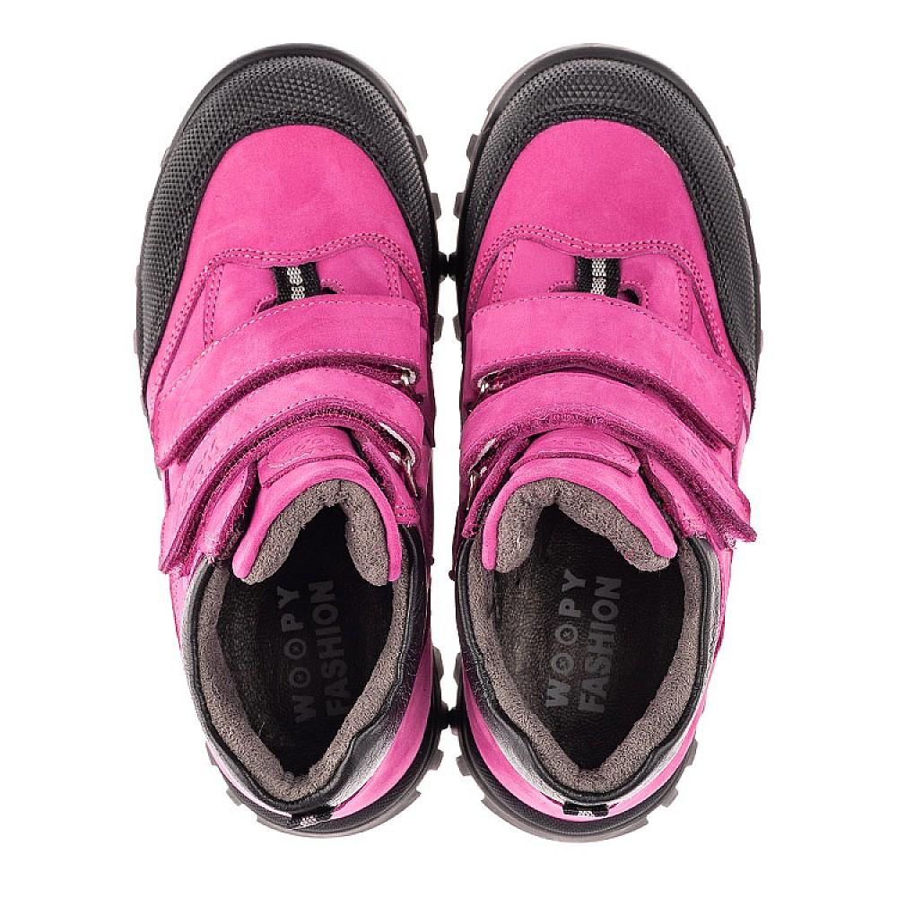 Детские демисезонные ботинки Woopy Fashion малиновые для девочек натуральный нубук размер 21-34 (4456) Фото 5