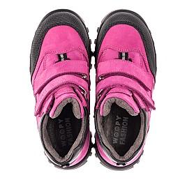 Детские демисезонные ботинки Woopy Fashion малиновые для девочек натуральный нубук размер 21-23 (4456) Фото 5