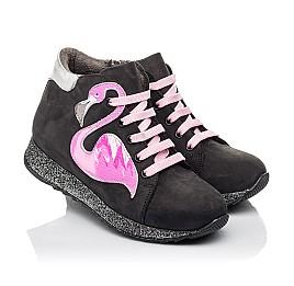 Детские демісезонні черевики Woopy Fashion черные для девочек натуральный нубук размер 23-36 (4457) Фото 1