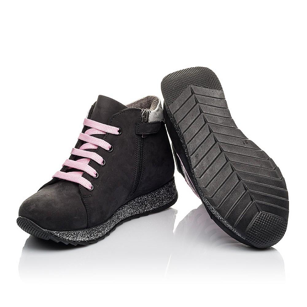 Детские демисезонные ботинки Woopy Fashion черные для девочек натуральный нубук размер 23-36 (4457) Фото 2