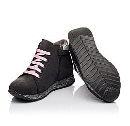 Детские демісезонні черевики Woopy Fashion черные для девочек натуральный нубук размер 23-36 (4457) Фото 2