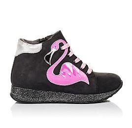 Детские демісезонні черевики Woopy Fashion черные для девочек натуральный нубук размер 23-36 (4457) Фото 4