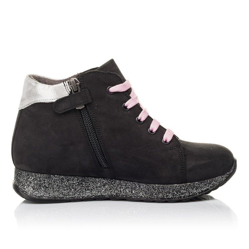 Детские демисезонные ботинки Woopy Fashion черные для девочек натуральный нубук размер 23-36 (4457) Фото 5