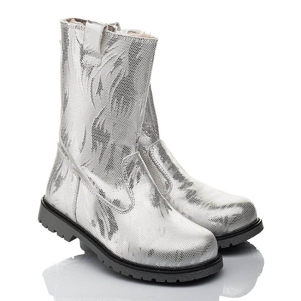 Детские зимние сапоги на меху Woopy Fashion серебряные для девочек натуральная кожа размер 28-37 (4458) Фото 1