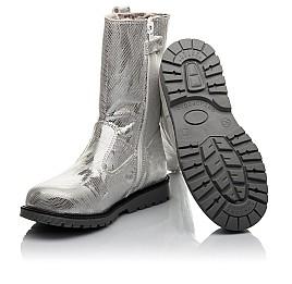 Детские зимние сапоги на меху Woopy Fashion серебряные для девочек натуральная кожа размер 28-37 (4458) Фото 2