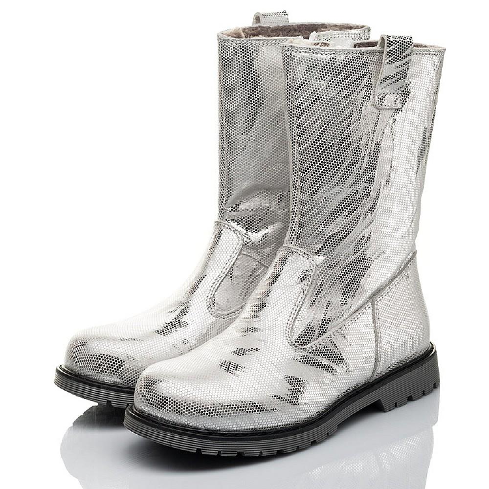 Детские зимние сапоги на меху Woopy Fashion серебряные для девочек натуральная кожа размер 28-37 (4458) Фото 3