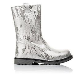 Детские зимние сапоги на меху Woopy Fashion серебряные для девочек натуральная кожа размер 28-37 (4458) Фото 4