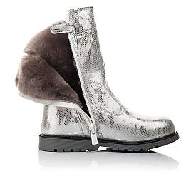 Детские зимние сапоги на меху Woopy Fashion серебряные для девочек натуральная кожа размер 28-37 (4458) Фото 5