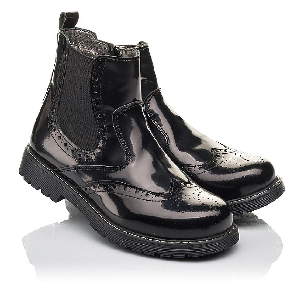 Детские демисезонные ботинки Woopy Fashion черные для девочек натуральная кожа размер 32-36 (4460) Фото 1
