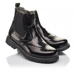 Детские демісезонні черевики Woopy Fashion черные для девочек  натуральная кожа размер 32-35 (4460) Фото 1