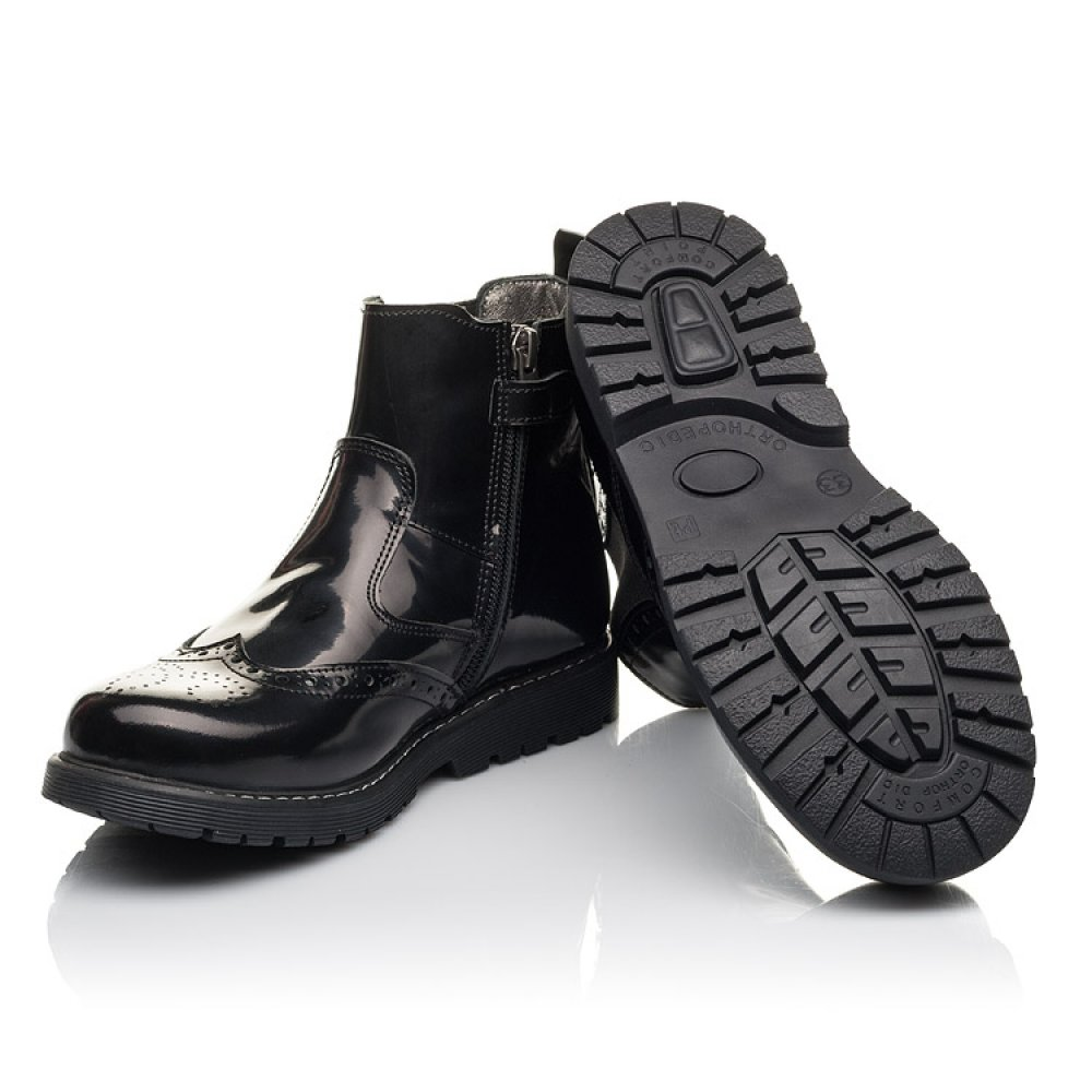 Детские демисезонные ботинки Woopy Fashion черные для девочек натуральная кожа размер 32-36 (4460) Фото 2