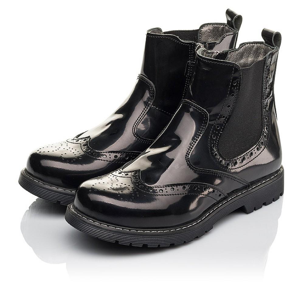 Детские демисезонные ботинки Woopy Fashion черные для девочек натуральная кожа размер 32-36 (4460) Фото 3