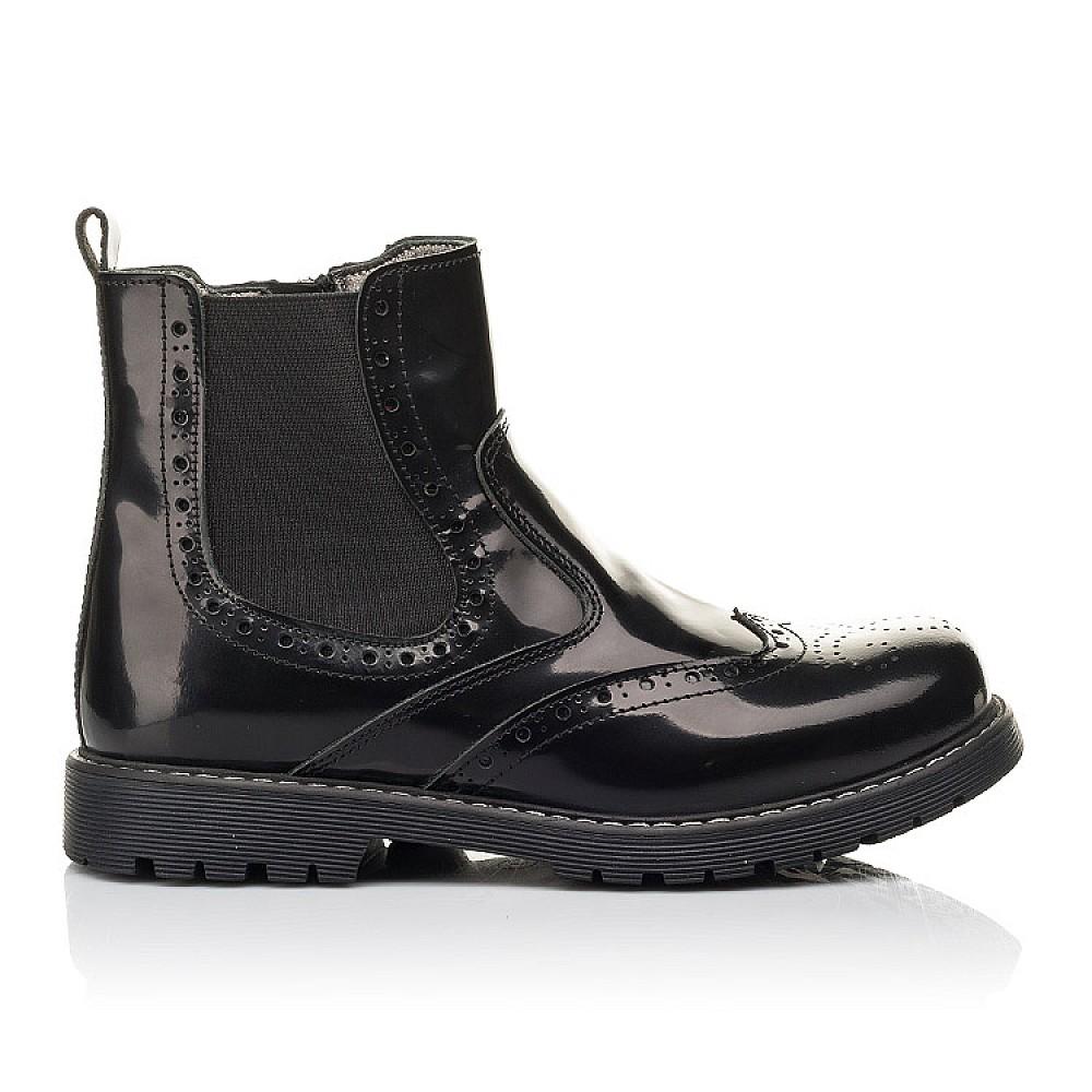 Детские демисезонные ботинки Woopy Fashion черные для девочек натуральная кожа размер 32-36 (4460) Фото 4