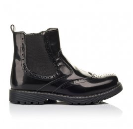 Детские демісезонні черевики Woopy Fashion черные для девочек  натуральная кожа размер 32-35 (4460) Фото 4
